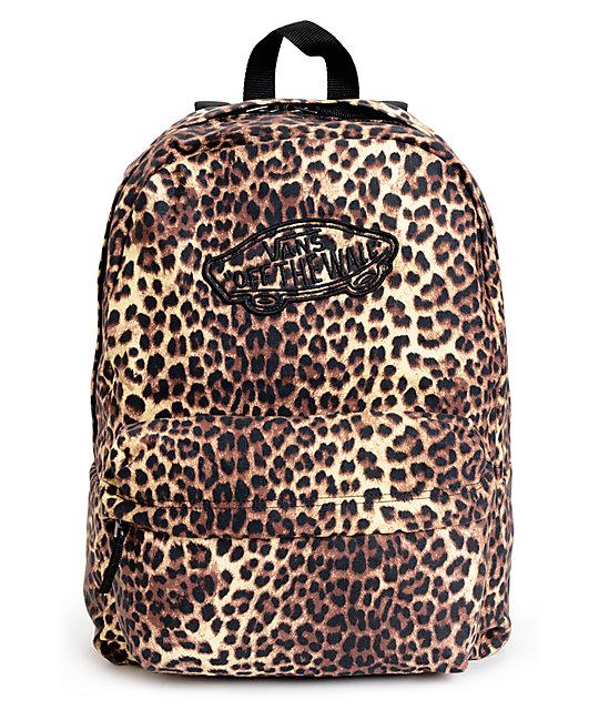 Vans Realm Leopard Print Backpack at Zumiez : PDP