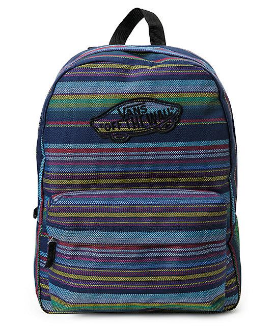 Vans Realm Multi Stripe Dewberry Backpack