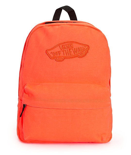 Vans Realm Neon Coral Backpack