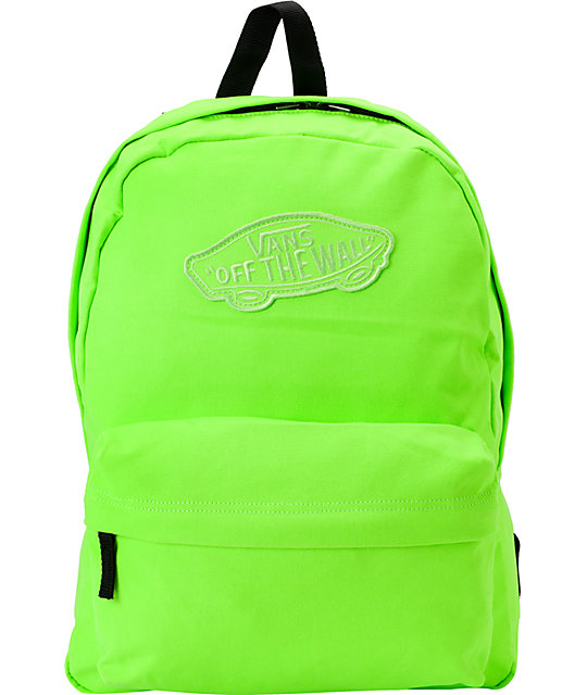 Vans Realm Neon Green Backpack