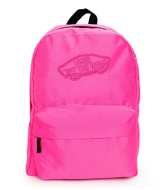 Vans Realm Neon Pink Backpack