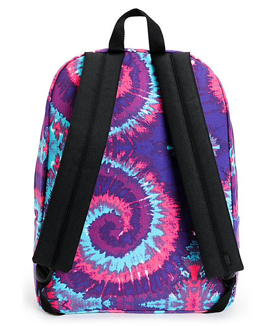 Vans Realm Pink & Purple Tie Dye Backpack