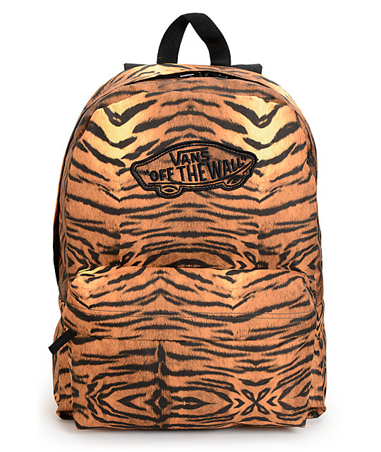 Vans Realm Tiger Print Backpack