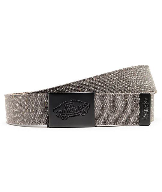 Vans Reverse Charcoal & Brown Web Belt