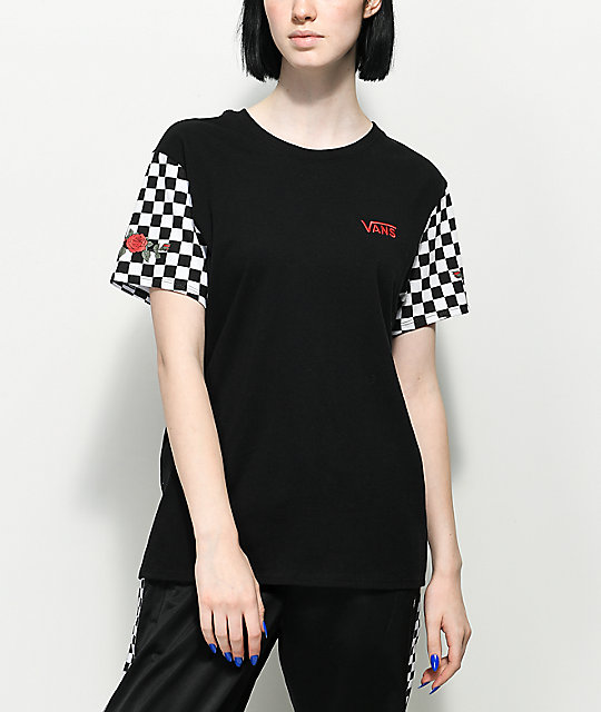Vans Rose &Amp; Checker T Shirt by Vans