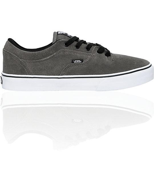 Vans Rowley 99 Pewter Suede Skate Shoes