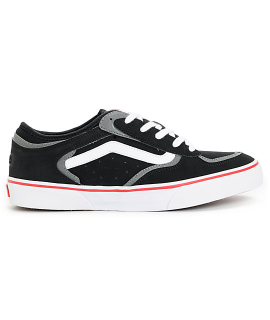 Vans Rowley Pro Black, Red, & White Skate Shoes
