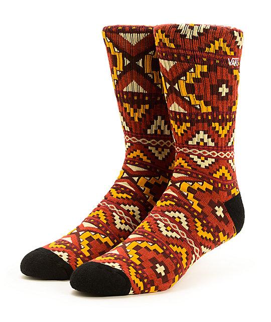 Vans Santa Fe Henna Crew Socks
