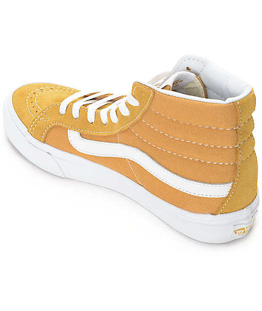 Vans Sk8-Hi Amber Gold Womens Skate Shoes