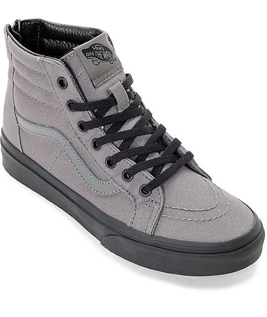 vans shoes black and white boys. vans sk8 hi black \u0026 pewter boys skate shoes and white