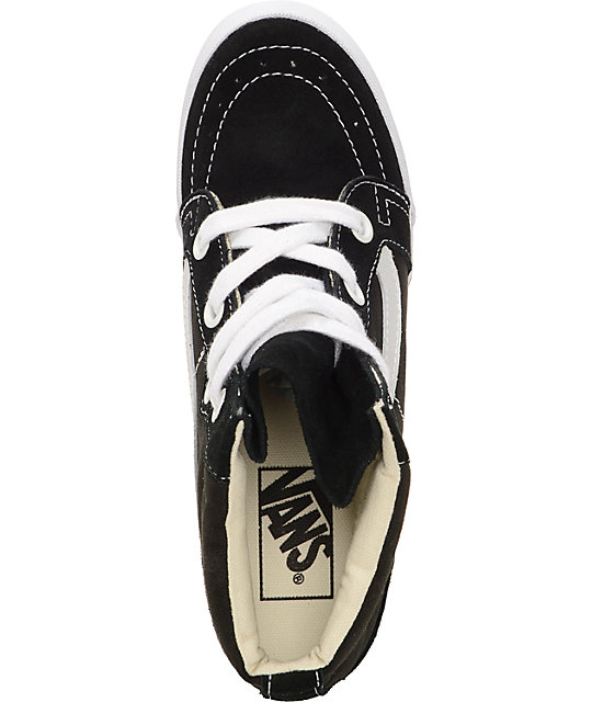 Vans Sk8-Hi Black Wedge Shoes