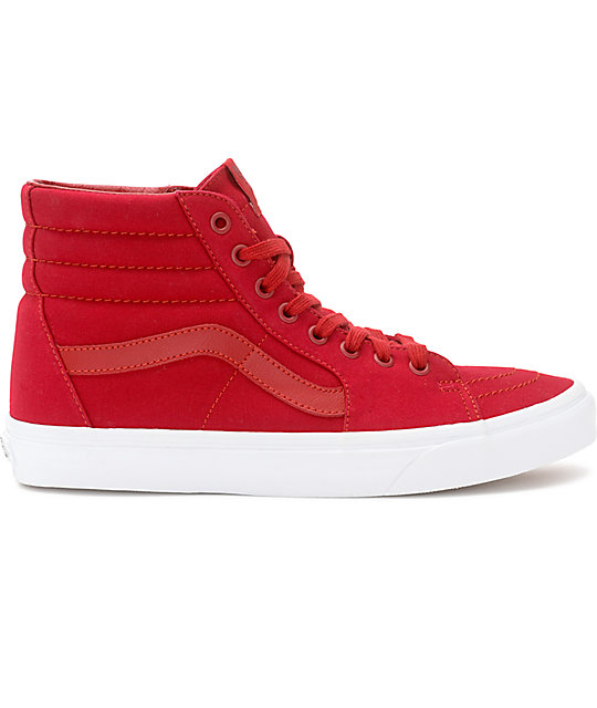 Vans Sk Hi Chili Red White Skate Shoes