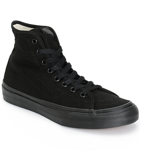 vans sk8 hi decon black canvas shoes