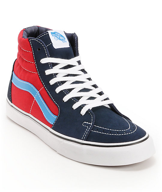 Vans Sk8-Hi Dress Blues & Chilli Pepper Skate Shoes (Mens)