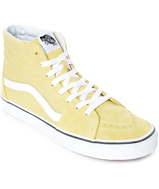Vans Sk Hi Dusty City Yellow And White Skate Shoes