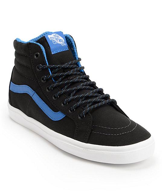 Vans Sk8-Hi Lite Black & Skydiver Skate Shoes (Mens)
