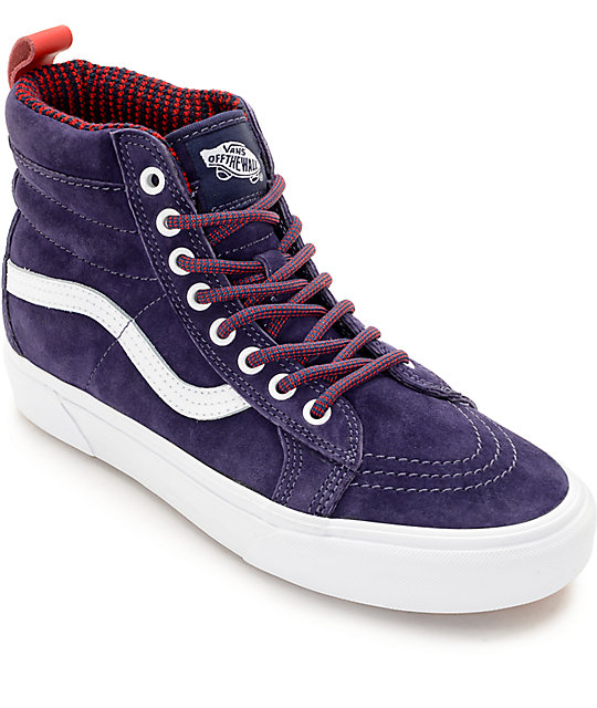 Vans Sk8-Hi MTE Evening Blue Shoes (Womens)
