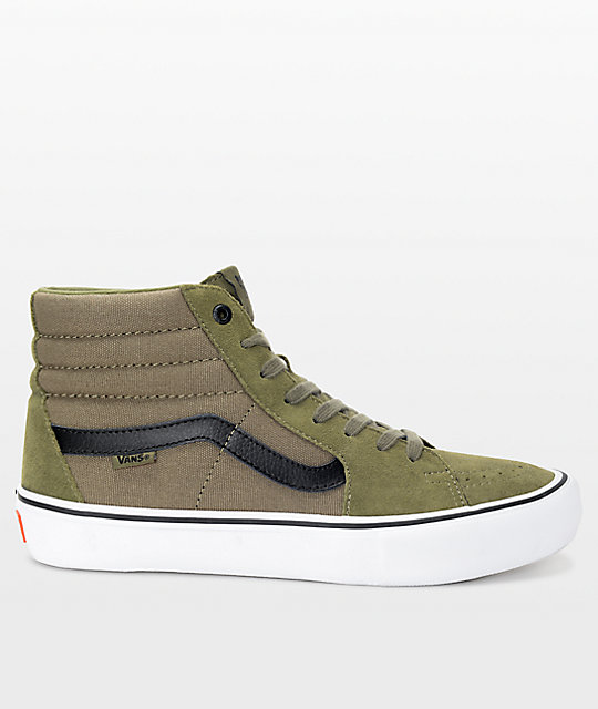 0d466efe6c6865 khaki green high top vans   Come and stroll!