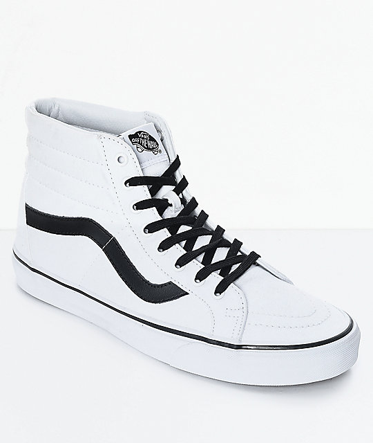 Vans Sk8-Hi Reissue True White & Black Skate Shoes at Zumiez : PDP