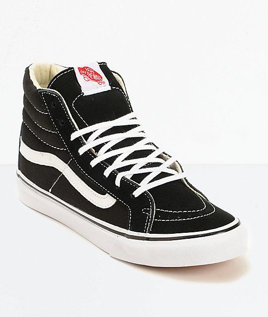 vans sk8 hi slim black true white shoes zumiez. Black Bedroom Furniture Sets. Home Design Ideas