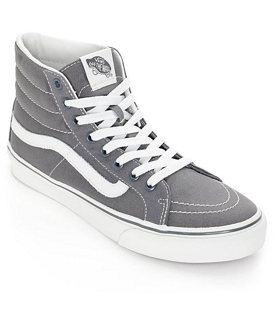 gray vans sk8 hi skate