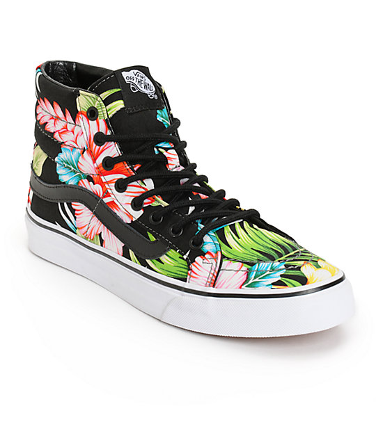 Vans Sk8-Hi Slim Hawaiian Floral Shoes (Womens)