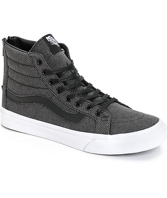 Vans Sk8-Hi Slim Herringbone Tweed Shoes (Womens)