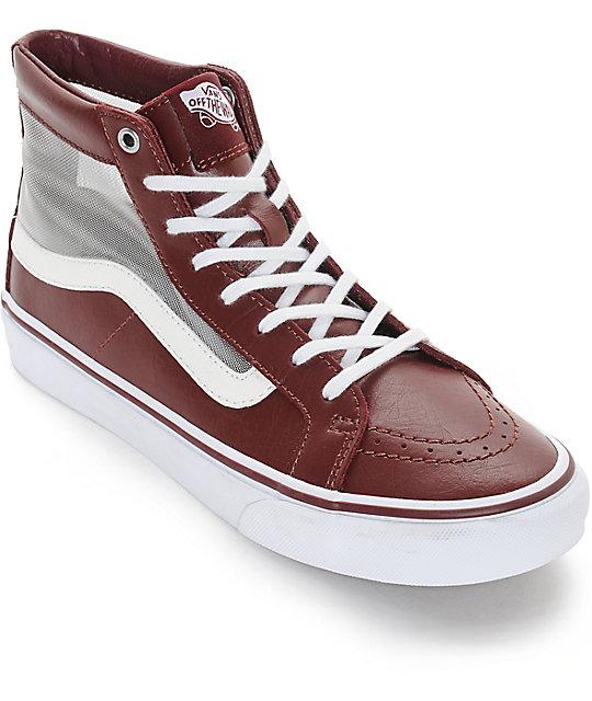 Vans Sk8-Hi Slim Mesh Cutout Port Royal Shoes