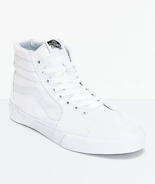 Vans Sk8-Hi True White Canvas Skate Shoes at Zumiez : PDP