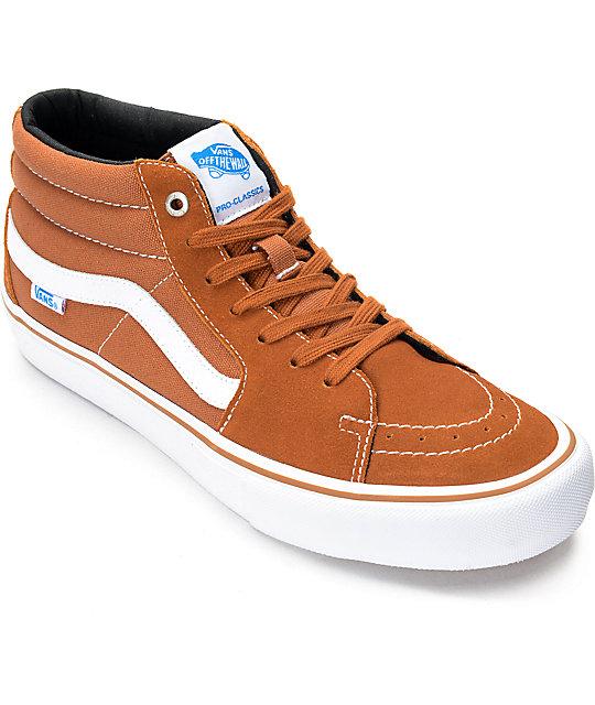 Vans Sk8-Mid Pro Glazed Ginger Skate Shoes