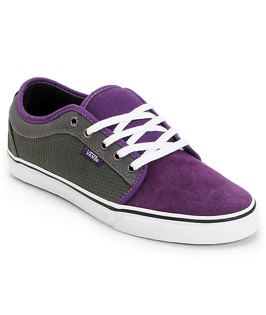 Vans Skate Shoes (Mens) Chukka Low Purple & Charcoal Houndstooth Skate Shoes (Mens)