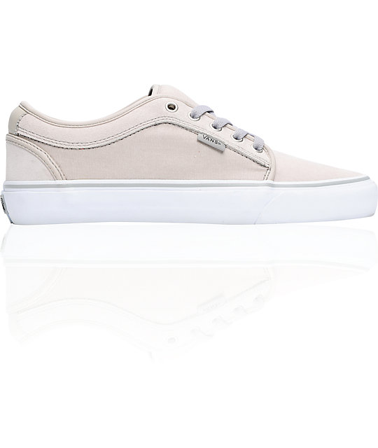 Vans Skate Shoes Chukka Low Soft Grey & White Skate Shoes