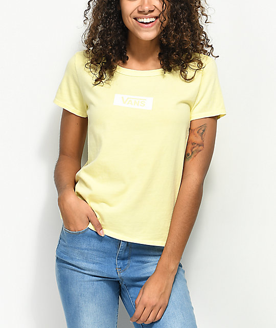 Vans Skimmer Box Drop V Yellow T-Shirt