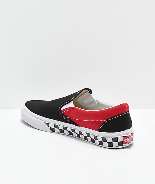 Vans Slip Bmx Y Blanco Cuadros En Zapatos Skate NegroRojo on De SMpqUGjzLV