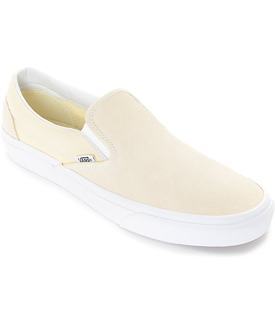 Vans Slip-On Pastel Yellow Skate Shoes