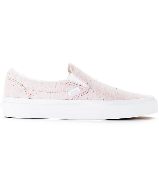 Vans Slip-On Speckle Jersey Pink Shoes