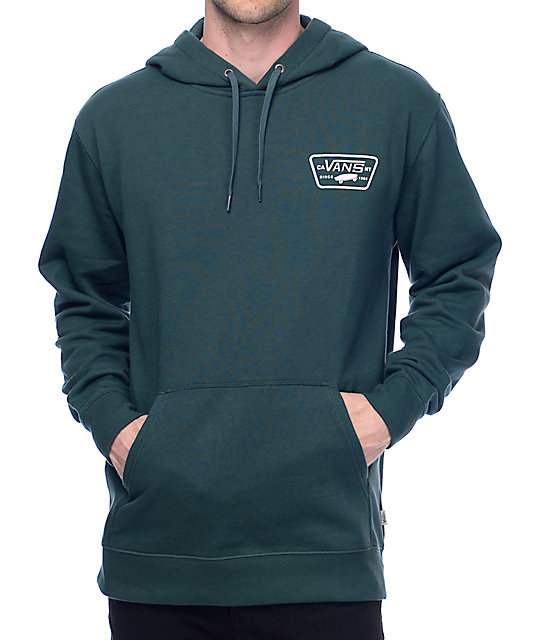 Vans Small Full Patch Green Hoodie