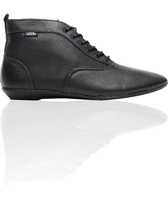 Vans Sophie Black Leather Boots