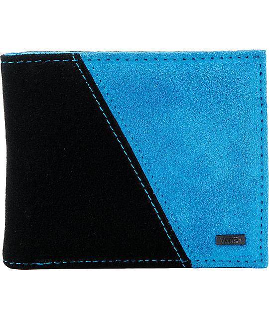 Vans Splinter Black & Blue Leather Wallet