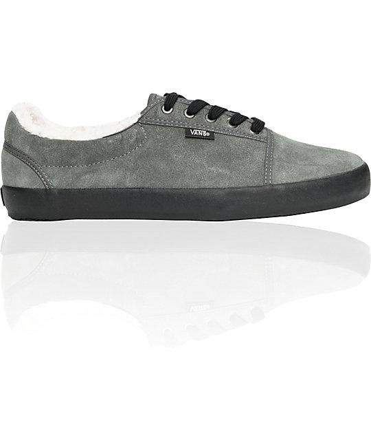 Vans Srpls Charcoal Fleece Lined Skate Shoes (Mens)