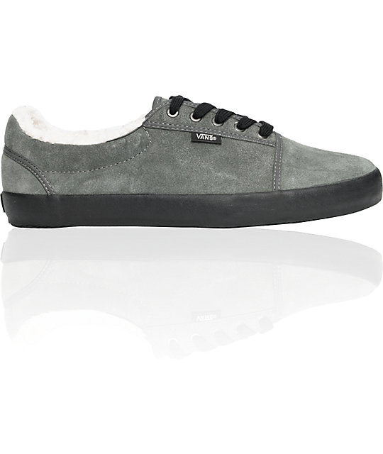 Vans Srpls Charcoal Fleece Lined Skate Shoes