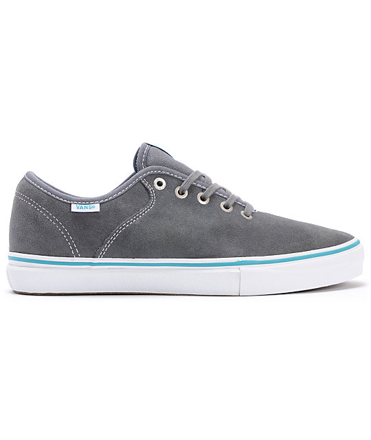 Vans Stage 4 Low Andrew Allen Grey & Teal Suede Skate Shoes
