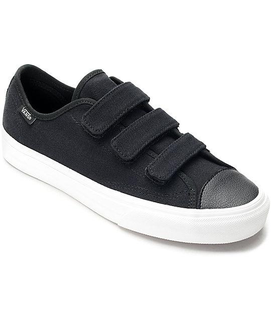 Vans Style 23V Black & White Twill Womens Shoes