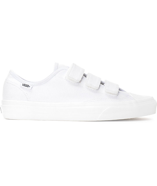 Vans Style 23V White Twill Womens Shoes