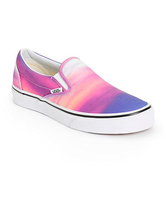 vans sunset purple slip on shoes at zumiez pdp