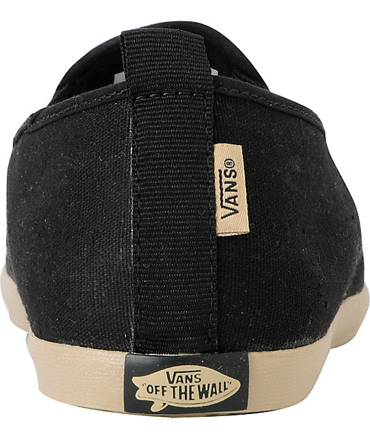 Vans Surfjitsu Black & Khaki Hemp Slip On Skate Shoes