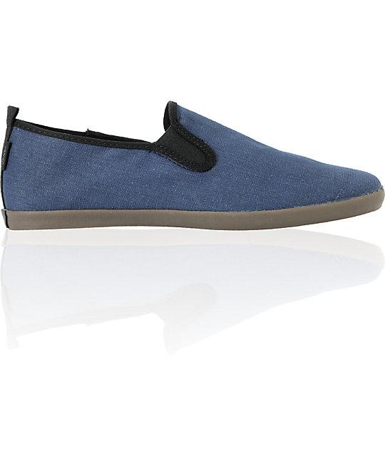 Vans Surfjitsu Ombre Blue & Dark Gum Slip On Skate Shoes