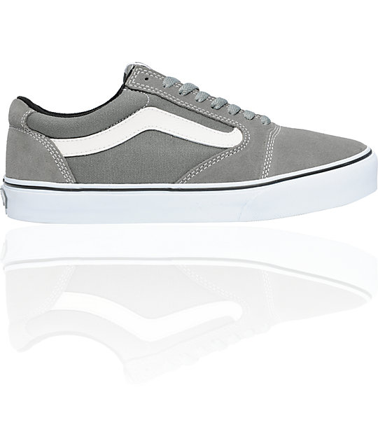 Vans TNT 5 Grey & White Skate Shoes (Mens)