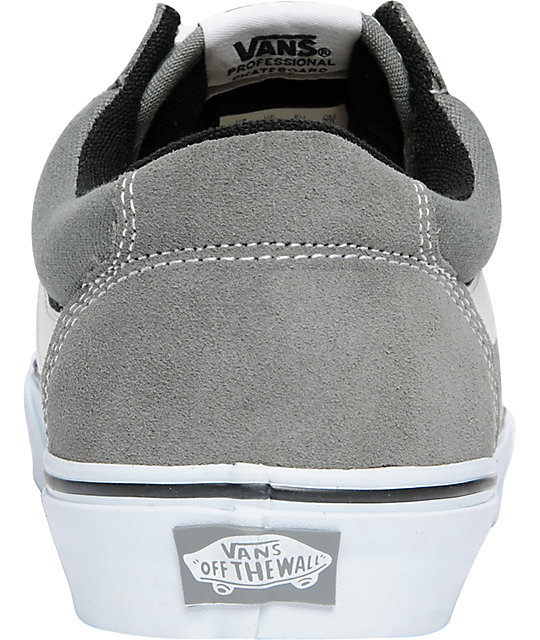 Vans TNT 5 Grey & White Skate Shoes