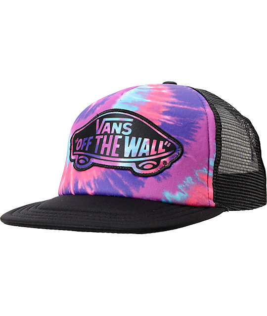 Vans Transport Pink Tie Dye Trucker Hat